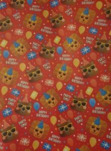 BUY 2 GET 1 FREE  3M SAFARI LION ANIMALS ROLL WRAP/ WRAPPING PAPER PER ROLL/KIDS