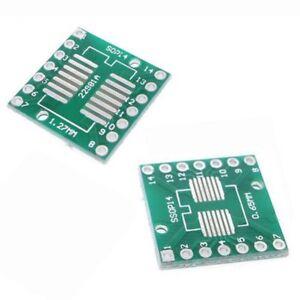 2 x SOP14 S014 SOIC14 TSSOP14 MSOP14 to DIP Adapter Board SMD Breakout