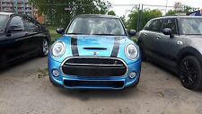 Mini Cooper 2007-2013 Hood Bonnet and Trunk Stripes with Silver contour