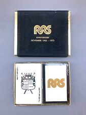 vintage Playing Cards RRS 10th Anniversary 1963 -1973 NEW ! Unused 2 pack in cas