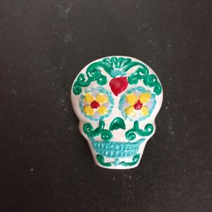 DAY OF THE DEAD PIN, CERAMIC,  HANDCRAFTED