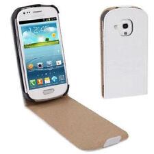 Flip Tasche Croco Style für Samsung i8190 Galaxy S3 Mini in weiß Etui Hülle Case
