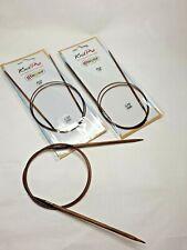 Knitpro GINGER circular needles 2-12 mm, 80 cm, wooden needles