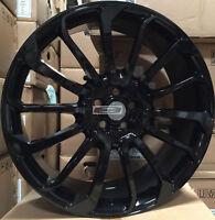 "22"" Autobiography Style Wheels Gloss Black Rims Pirelli Tires Fit Range Rover"