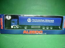 Albedo Volvo Sattelzug Technisches Hilfswerk,THW, in OVP aus Sammlungsauflösung