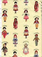 aunt grace friends around the world ~ ETHNIC FOLK COSTUME ~ fabric child doll