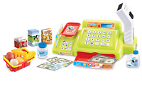 24 Pc Childrens Green Shop Cash Till Register Scanner,Money & Role Play Food 541