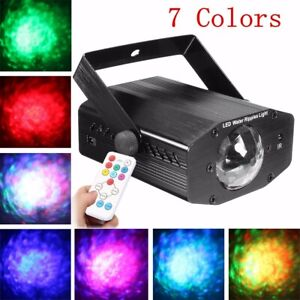 LED Water Wave Laser Projector Stage Lighting DJ KTV Disco Party Lamp