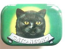 Gato Negro Blechdose Pillendose Dose Aufbewahrung Schwarze Katze Wein Chat Noir