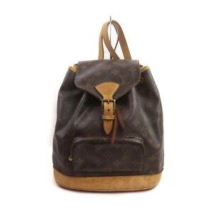 Louis Vuitton LV BackPack Bag Montsouris MM M51136 Browns Monogram 1424836