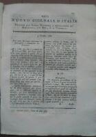 1789 RIVISTA NUOVO GIORNALE D'ITALIA:MAIS A CAMPOMOLLE (UD) COLTURA DEL FRUMENTO