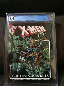 Marvel Graphic Novel #5 CGC 9.4  WHITE Pgs X-Men 1st printing