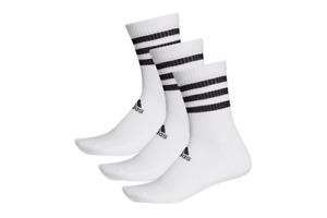 adidas Cushioned Crew Socks 3 Pairs White Men's Sport Training Socks DZ9346