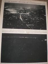 Photo article France Paris Black-out anti air raid practice 1936 ref AZ