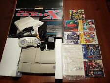 NEC Console DUO RX system PC-engine DUO SUPER CDROM/HU-CARD + 7 GAMES NUOVI