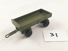 MATCHBOX LESNEY # 2D MERCEDES TRAILER ARMY MILITARY DIECAST 1970 OLIVE GREEN