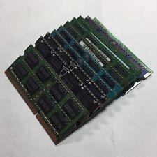 LOT OF 10 4GB PC3L-12800S DDR3 RAM 1600MHZ LAPTOP MEMORY MAJOR BRAND