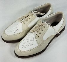 FootJoy Europa collection 98910 Oxford Golf Shoes Womens 6.5N Beige White Narrow