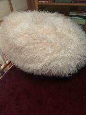 "Pottery Barn PB Teen Ivory Furlicious Large Beanbag Slipcover 41"""