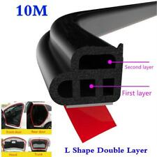 10M Black Car Door Edge Moulding Rubber Sealing Strip for all CAR SUV Pickup