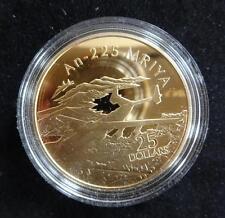 2005 FINE SILVER GOLD PLATED PROOF SOLOMON ISL'S $25 COIN ANTONOV AN-225 MRIYA