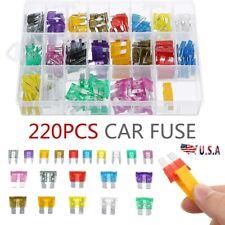 220Pcs Assorted Car Fuse Mini Blade Fuses Set Auto Truck SUV Assortment Fuse Kit