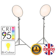 GLOWPAD 450D Studio Constant Slim-Profiled Bi-Colour LED Light Twin Kit Filming