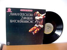 """STRAVINSKY """"Petrouchka"""" Audiophile MASTERSOUND LP (CBS IM 35823) Zubin Mehta"""