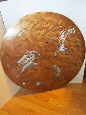 """STEEL WALL ART BUFFALO HUNT  33 3/8"""" ACROSS 12 GAUGE LASER CUT ARROW ASBTRACT"""