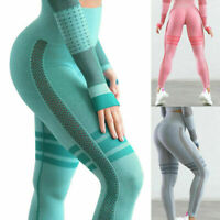 Women High Waist Yoga Fitness Leggings Pants Seamless Sports Gym Workout Trouser