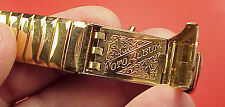 W 2 Rare -19mm Gemex Gold Plated ID Bracelet Opens For 6 Photo Album - Watchband