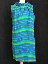True Vintage años 50 años 60 Azul a Rayas sol carpa Vestido Raro M 14 Divertido