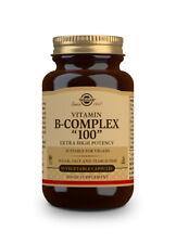 "Solgar Formula Vitamin B Complex ""100"" 100 Vegetable Capsules EXTRA HIGH POTENCY"