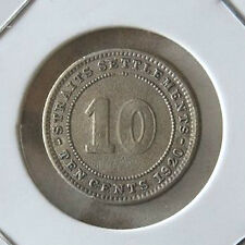 10 cents S/settlement 1920 silver coin (scarce) # 316
