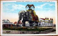 1920 Postcard: 'Elephant Hotel, Margate City - Atlantic City, New Jersey NJ'