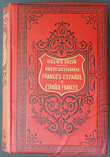 SALVA - NUEVO DICCIONARIO FRANCES ESPANOL - 1893 Dictionnaire francais espagnol
