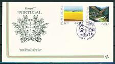 Portugal Coat of Arms Europe CEPT FDC Tagus River 1977