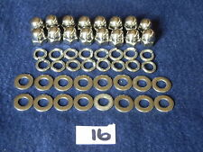 VESPA STAINLESS STEEL POLISHED DOMED DOME ACORN WHEEL NUTS & WASHERS QTY 16