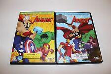 Marvel The Avengers Vol 1 & 2 DVDS Heroes Assemble & Captain America Reborn!