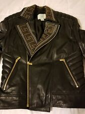 Versace H&M Mens Leather Jacket