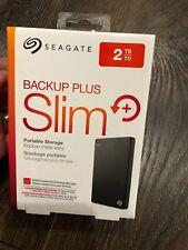 SEAGATE 2TB Backup Plus Slim Portable External USB Hard Drive SRD00F1 NEW SEALED