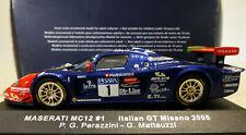 1/43 IXO Maserati MC12 #1 Italian GT Misano 2005. Mint and boxed. GTM039.