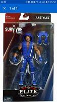WWE Mattel AJ Styles Blue Survivor Series Elite Figure Exclusive New In Box
