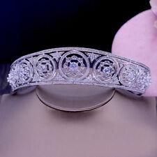 Luxury All CZ Cubic Zirconia Drip Flower Wedding Party Pageant Prom Tiara Crown