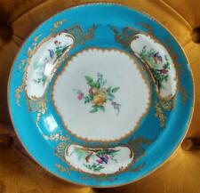 18th C Sevres Bleu Cleleste Porcelain Exquisitely Hand Painted Plate C 1759