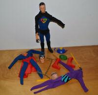 """Vintage CAPTAIN ACTION FIGURE & ACCESSORIES Lot Superman Phantom Ideal 12"""" Doll"""