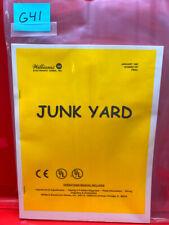 Junk Yard Pinball Operations/Service/Repair /Troubleshooting Manual Junkyard G41