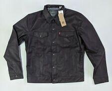 Levis Men's Faux Leather Trucker Levi's Jacket Chocolate Brown #0001