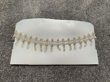 COSTUME JEWELLERY - BEADED PEARL CHOKER NECKLACE!