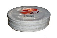"""Pack Of 100 White Disposable Paper Plates perfect for BBQ and parties 9"""""""